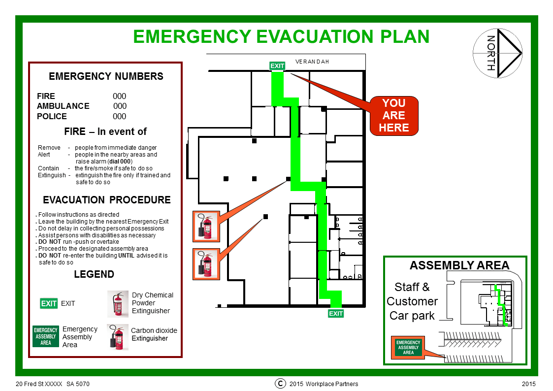 Workplace safety consulting adelaide workplace partners for Fire evacuation plan template for office